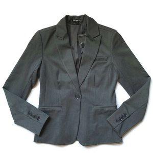 NEW Express Dark Gray One Button Blazer